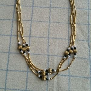 Gold color bead necklace